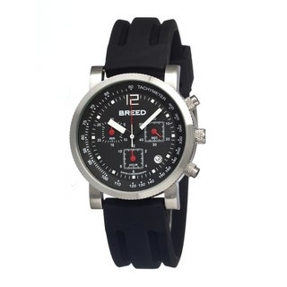 Breed Men's 'Manning' Black Silicone Black Dial Automatic Watch