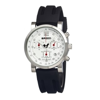 Breed Men's 'Manning' White Silicone Black Analog Watch