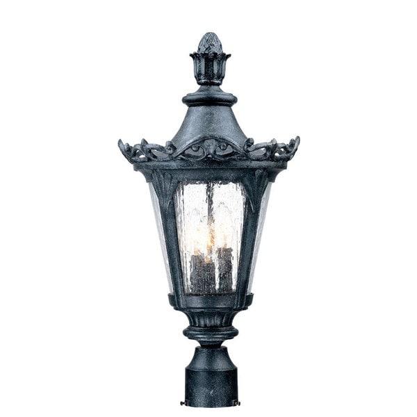 acclaim lighting valencia stone 3 light outdoor post mount