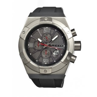 Breed Men's 'Titan' Black Silicone Charcoal Grey Dial Automatic Watch