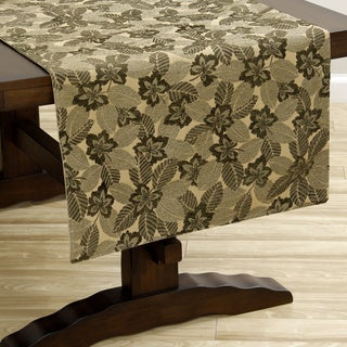 Green Leaf Extra-wide Italian Woven Table Runner