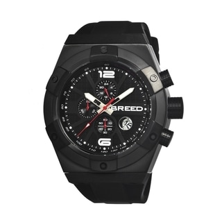 Breed Men's 'Titan' Black Silicone Analog Watch