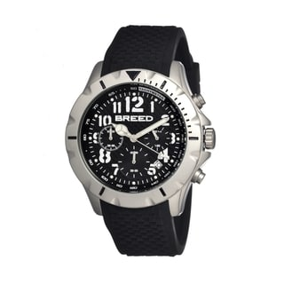 Breed Men's 'Sergeant' Black Silicone Analog Watch