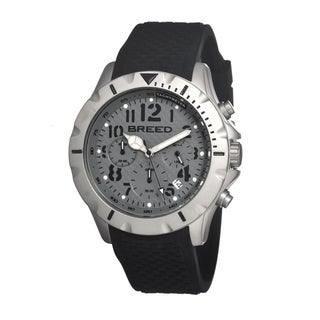 Breed Men's 'Sergeant' Grey Silicone Analog Watch