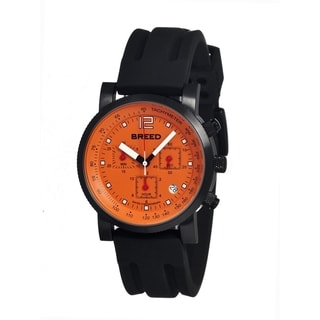 Breed Men's 'Manning' Stainless Steel Orange Analog Watch