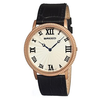 Breed Men's 'George' Rose Goldplated Stainless Steel Analog Watch