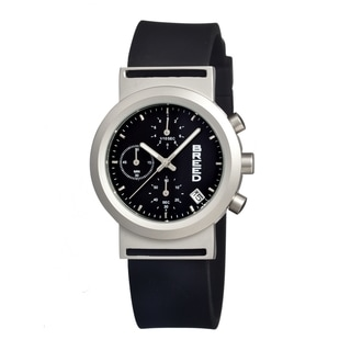 Breed Men's 'Jefferson Black' Black Silicone Analog Watch