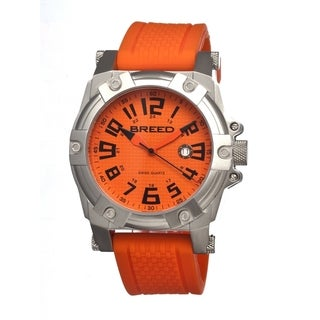 Breed Men's 'Bolt' Orange Silicone Analog Watch