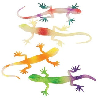 Fun Express Glow-in-the-Dark Neon Painted Lizards (Pack of 12)