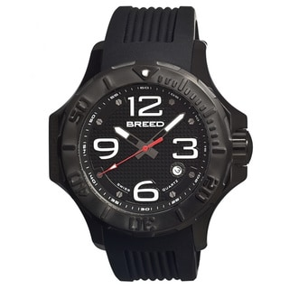 Breed Men's 'Henry' Black Silicone Analog Watch