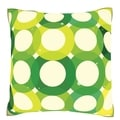 Circular Green Seamless Tile Pattern 18-inch Polyester Velour Throw Pillow