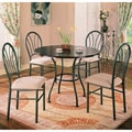 Halle Dark Brown/ Beige 5-piece Dining Set