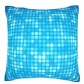 Multiples Blue Dots 18-inch Velour Throw Pillow