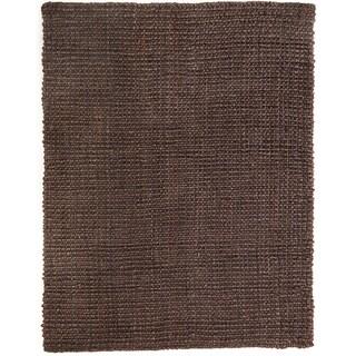 Handmade Reve Chocolate Brown Jute Boucle Rug (10' x 14')