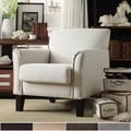 Uptown Modern Gray Linen Accent Chair