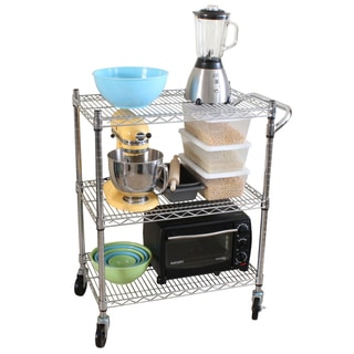Oceanstar 3-tier Steel Heavy-duty All-purpose Utility Cart
