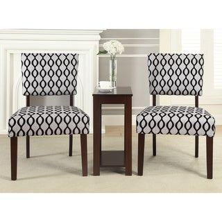 Alexis 'Zeph' 3-piece Accent Chairs and Side Table Set