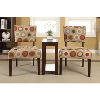 Alexis 'Polka' Printed 3-piece Accent Chairs and Side Table Set