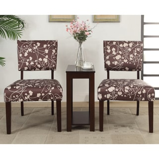 Alexis 'Hartz' 3-piece Accent Chairs and Side Table Set