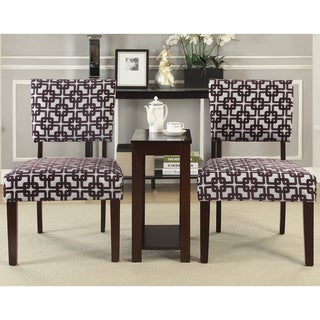 Alexis 'Crox' 3-piece Accent Chairs and Side Table Set
