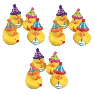 Fun Express Happy Birthday Rubber Duckies (Set of 12)