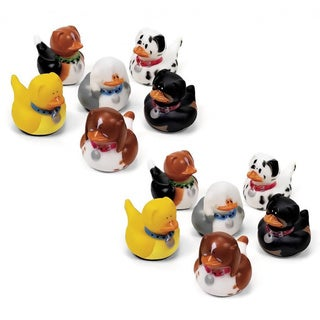 Fun Express Dog Rubber Duckies (Set of 12)