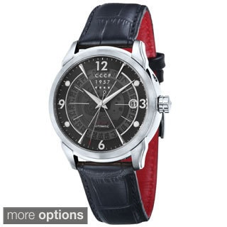 CCCP Men's 'Sputnick' Limited Edition Black Strap Watch