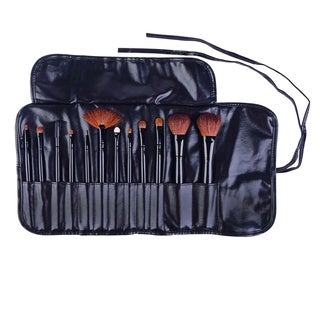 Shany Professional 12-piece Natural Cosmetic Brush Set with Pouch