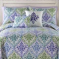 Gabrielle Multicolor Floral Reversible 5-piece Quilt Set