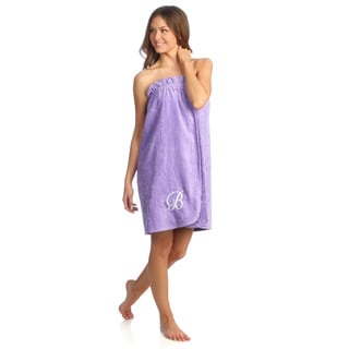 Ladies Cotton Hyacinth Bath Body Wrap with Monogram