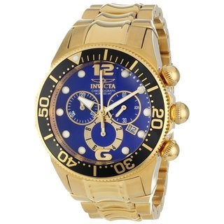Invicta Men's 14205 Gold/ Blue Lupah Chronograph Watch