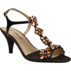Women's J. Renee Raspy Dark Gold Leopard Galaxy/Black Patent/Stones