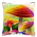 Building Exterior in Monsoon Season Velour Throw Pillow