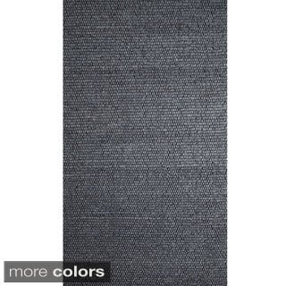 Hand-knotted Felt Bubble Weave Rug (India)
