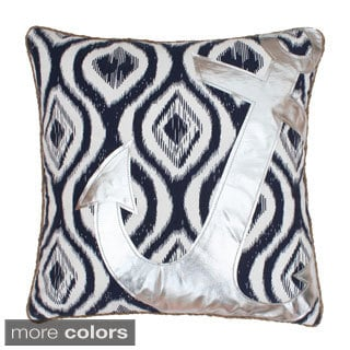 Ali Anchor Applique Feather Filled Throw Pillow