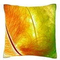 Colorful Feathers Close-up Polyester Velour Throw Pillow
