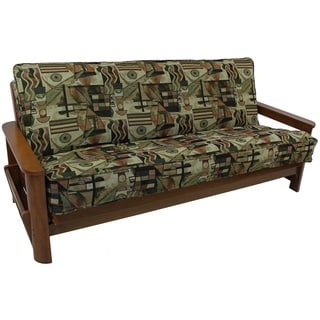 Blazing Needles Floral Collection Double-corded Tapestry Futon Cover