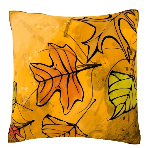 Autumn Leaves Velour Throw Pillow