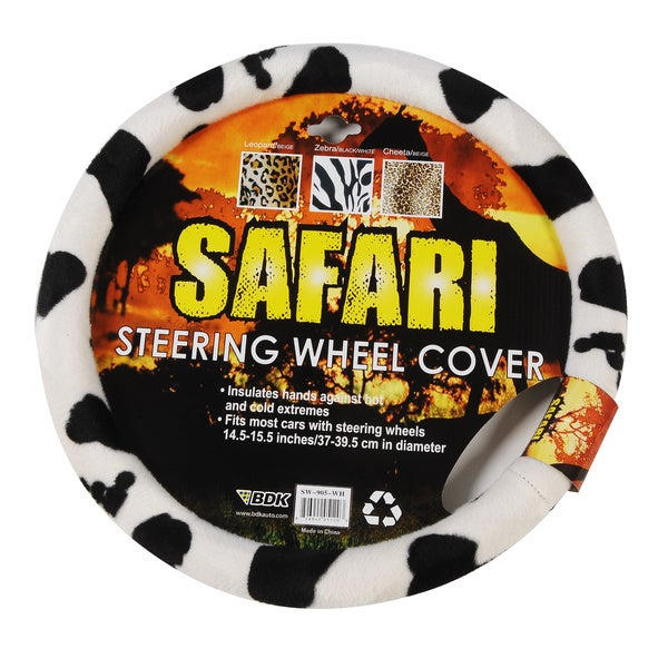 Oxgord Cow Black/ White Steering Wheel Cover