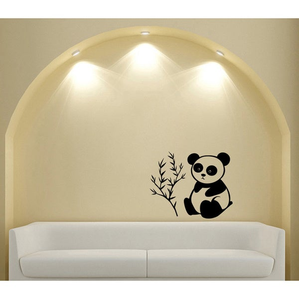 Panda with Eucalyptus Vinyl Wall Decal Sticker
