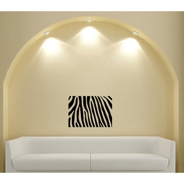 Abstract Zebra Brindle Glossy Black Vinyl Sticker Wall Decal
