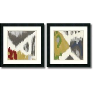 Rita Vindedzis 'Vibrant & Vivid' 2-piece 18 x 18-inch Framed Art Print