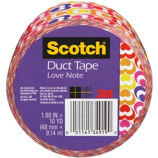 "Scotch Printed Duct Tape 1.88""X10yd-Hearts"