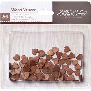 Atlantic Laser-Cut Wood Veneer Shapes-Tiny Hearts