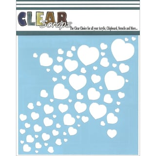 "Clear Scraps Stencils 6""X6""-Heart Arrow"