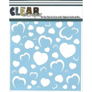 "Clear Scraps Stencils 6""X6""-Heart Wall"