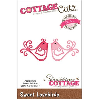 "CottageCutz Elites Die 1.5""X1.2""-Sweet Lovebirds"
