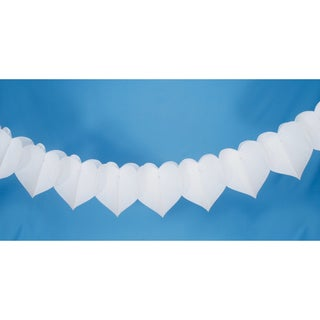 Tissue Paper Garland 9'-White