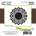 "Die-Versions Whispers Die-Love Doily, 3.75""X3.75"""