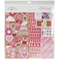 "Sweetheart Essentials Page Kit 12""X12""-Cardstock, Stickers & Embellishments"